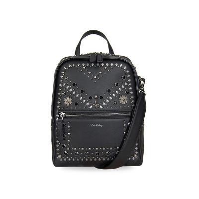 rock star backpack black